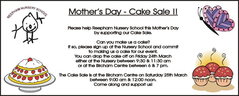 cake sale mothers day 2017
