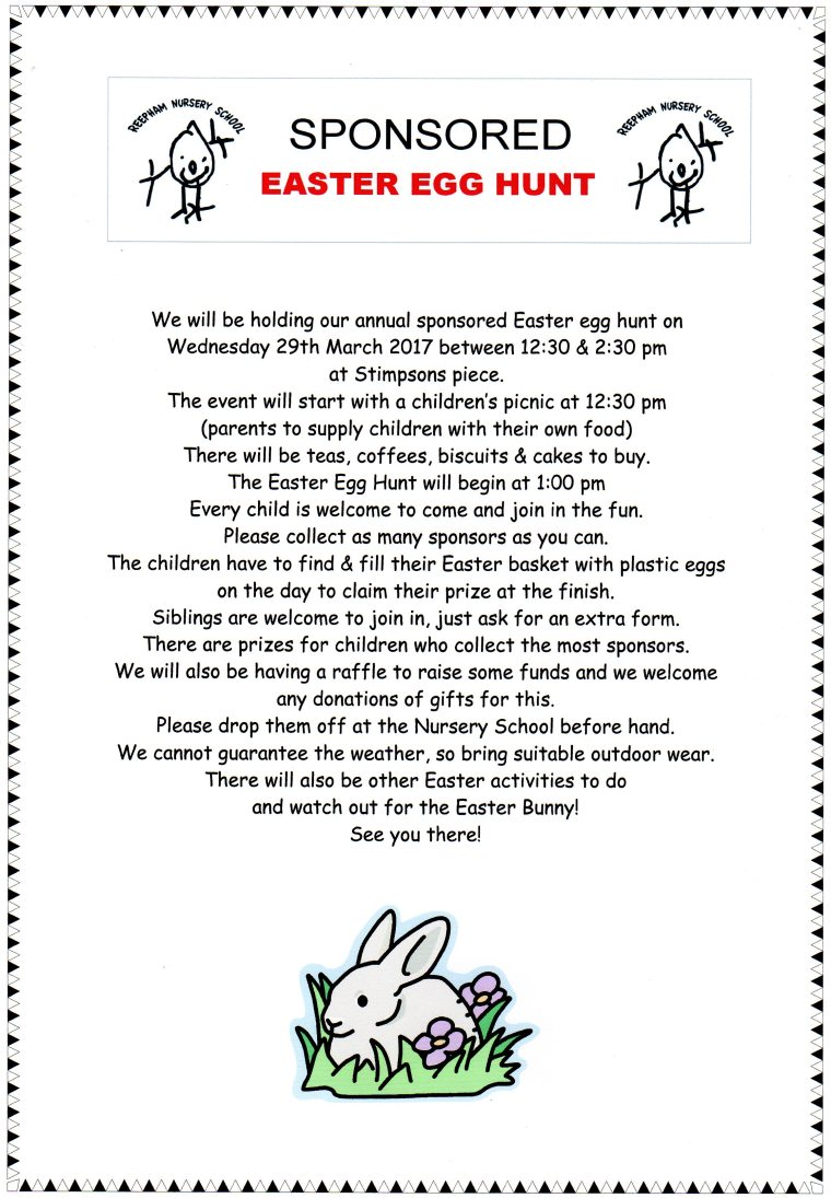 Sponsored Easter Egg Hunt