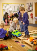 Our fantastic new building blocks kindly donated to our nursery by The Kings Arms, Reepham
